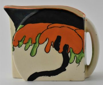 Clarice Cliff Woodland Jug Art Deco Pottery